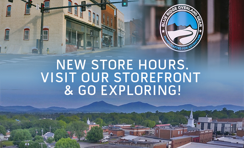 New store hours! Visit our storefront and go exploring.