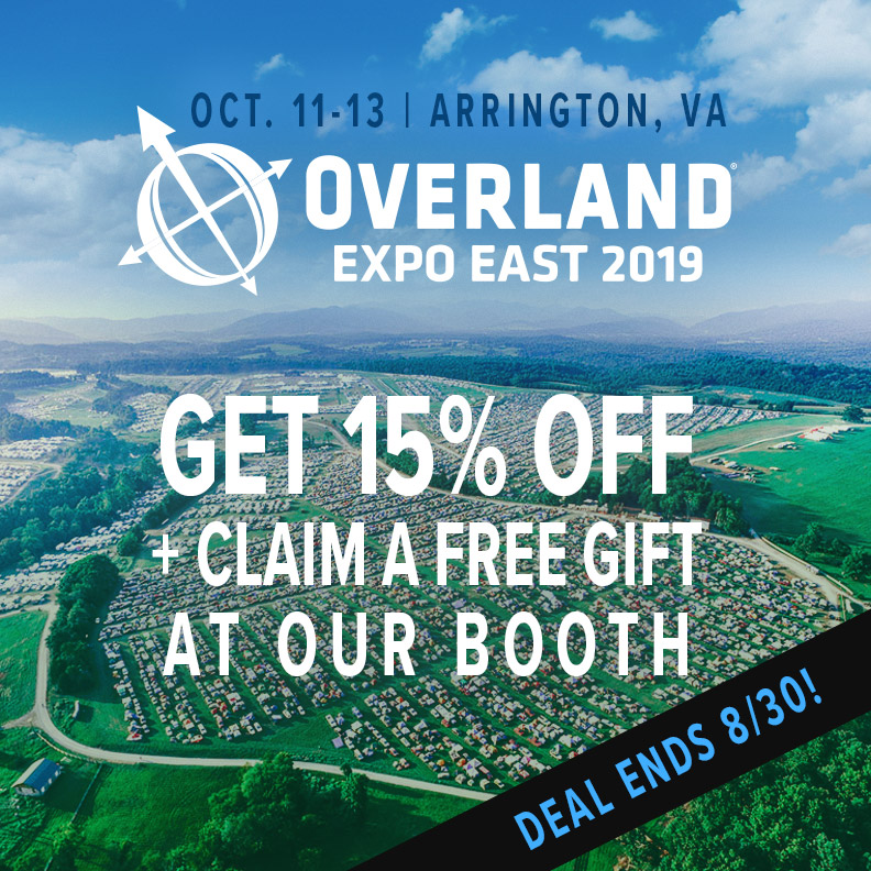 Overland Expo East 2019 - get 15% off