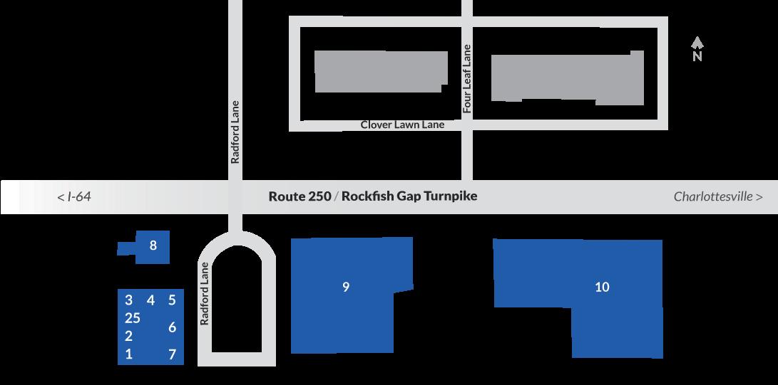 Map of Blue Ridge Shopping Ctr