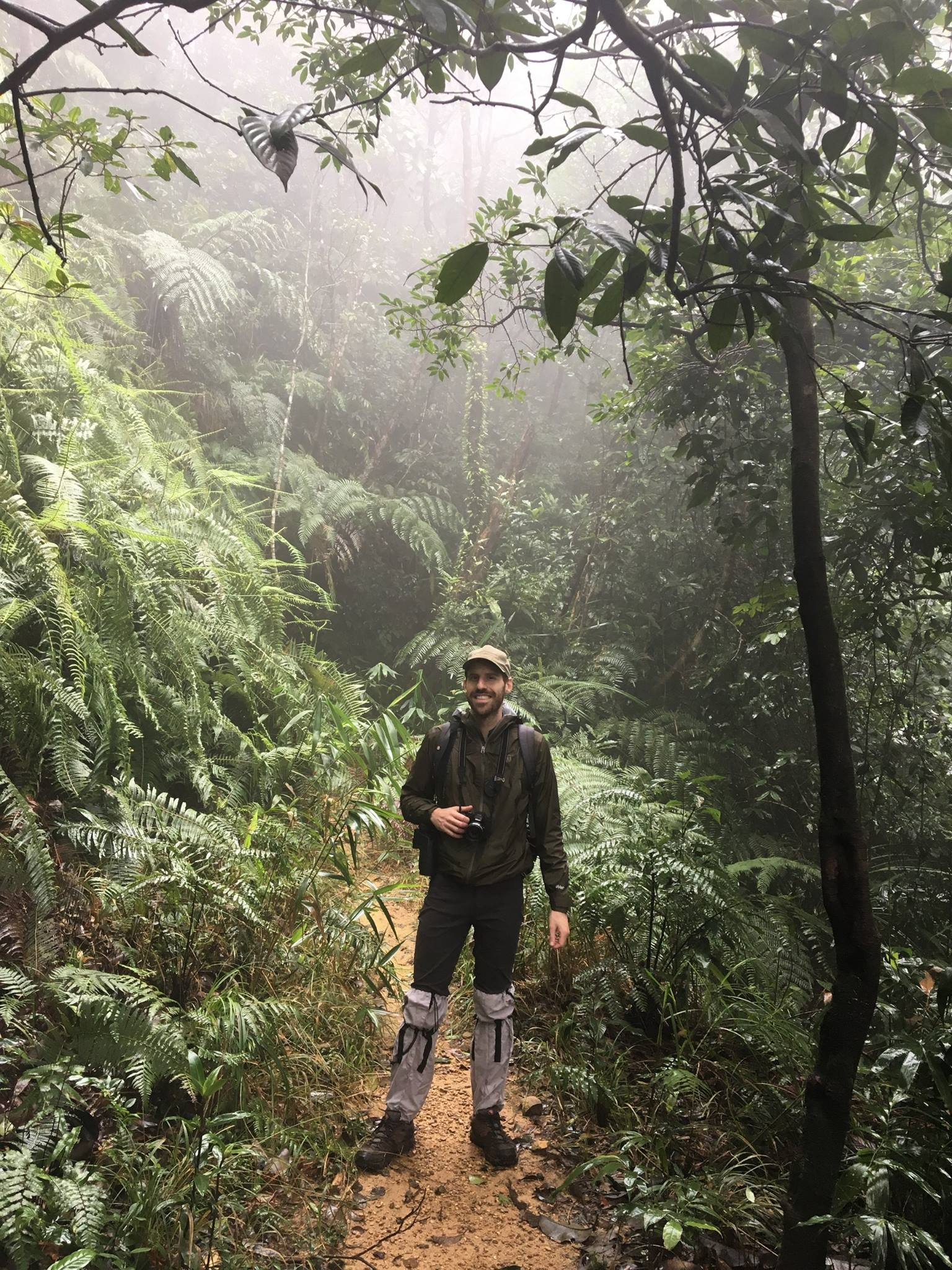 Eric Losh in the Annamite Mountains, Bach Ma National Park, Central Vietnam, December 2017