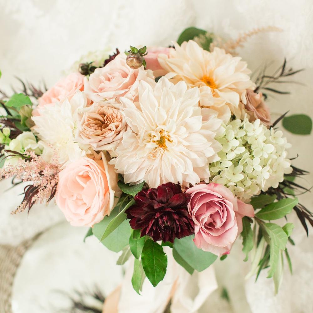 Burgundy & Pink Autumn Wedding