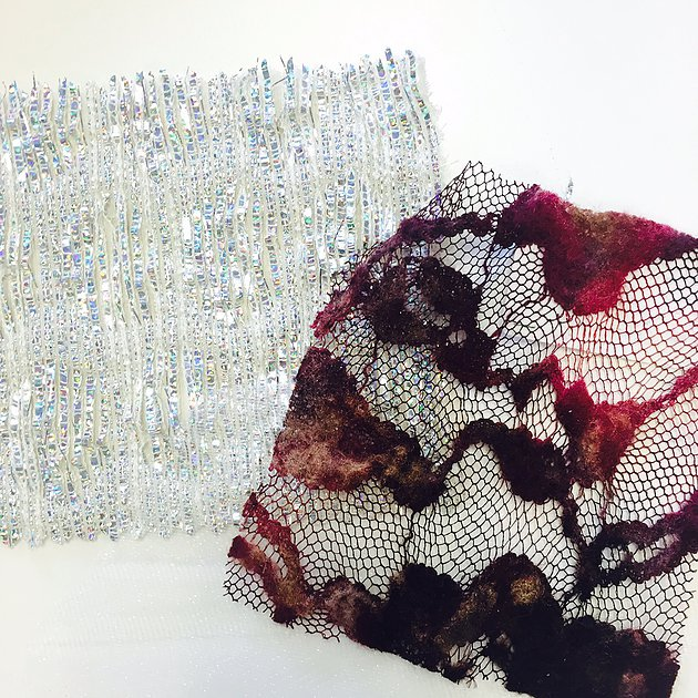 Fabric Swatches in gorgeous textures and colors were shared during designer interviews. There are going to be some amazing fabrics and colors coming down the runway in the Fall/Winter 2016 Collections!