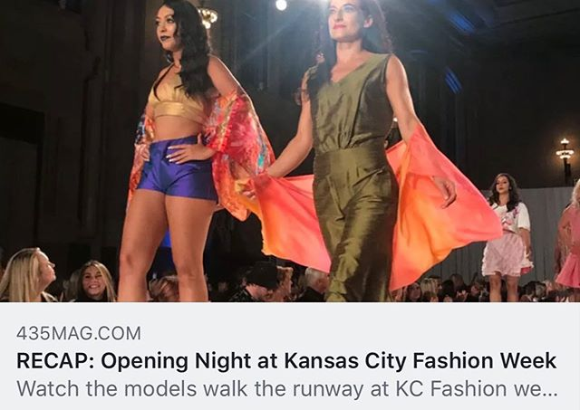 """""""Kansas City Fashion Week is here, and the first official night  buzzed with excitement and anticipation of what this season's runway will bring,"""" - @435mag • •  Check out our stories to read @435mag's recap of last night's amazing runway shows — and  don't miss the action tonight! Use the link in our bio to grab tickets as @shelbyharveydesigns , @maangstudios, @anna_leigh_designs, @lv_swim, @liverpooljeans, @bellevoguekc, @myblondeambitions, @nokota.style, and @madamelstyle present their new collections!"""