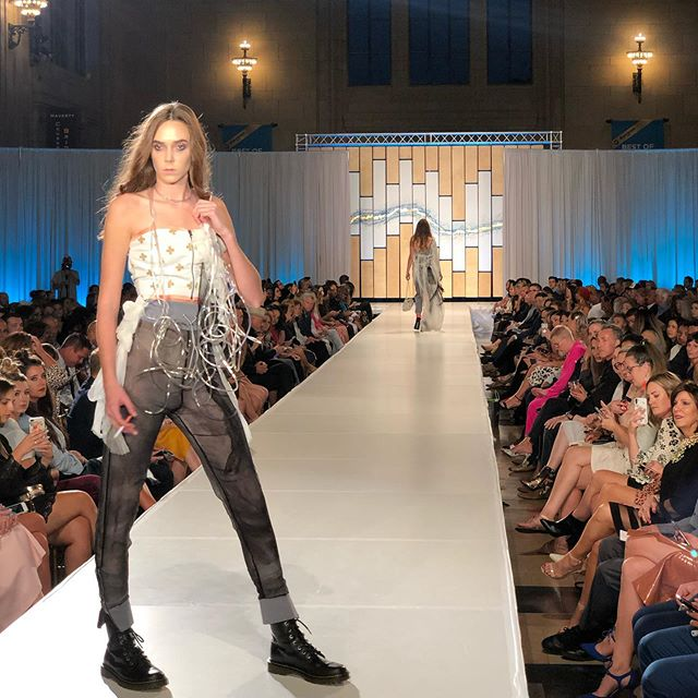 @anna_leigh_designs makes her return to #KCFW with a collection highlighting the dangers and health risks of smoking - with each look shows the progression of lung diseases. View our stories for the entire line.