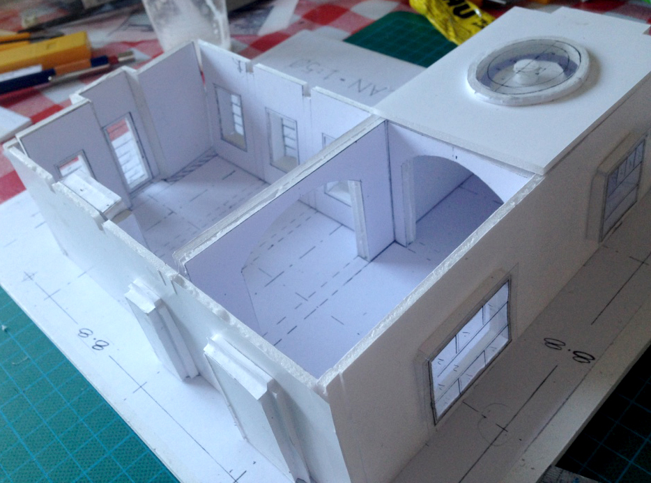 Model from above, with skylight