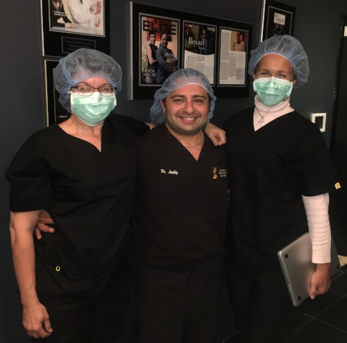 From left: Catherine, Dr. Jeneby, Elizabeth