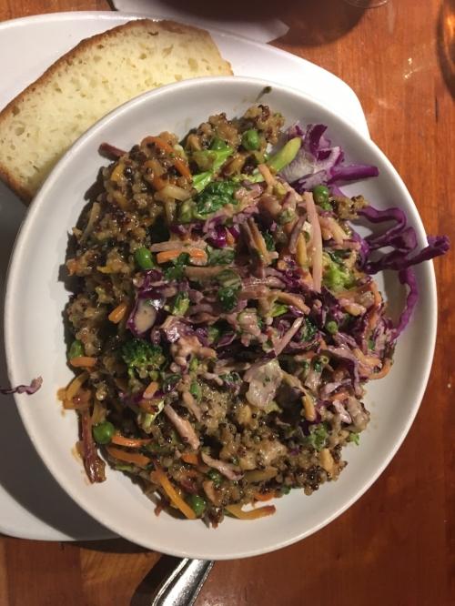 Catherine's spicy thai peanut quinoa bowl