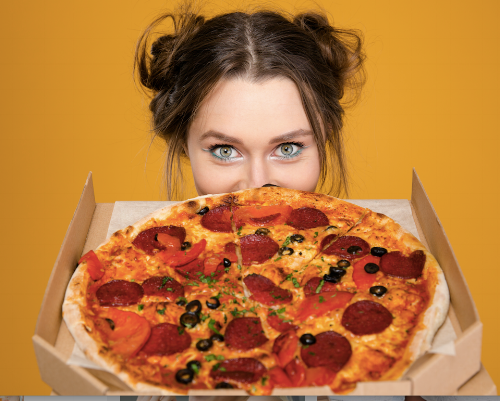 Woman with Pizza Blog Runs with Chocolat.png