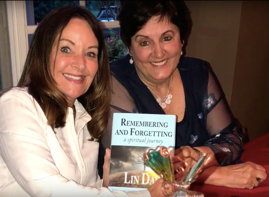 Dr. Kim Manning (left) with author Lin Day at Lin's book release party in July, 2018. Dr. Manning played an integral role in Lin Day's journey. She also wrote the Foreword to  Remembering and Forgetting: a spiritual journey.