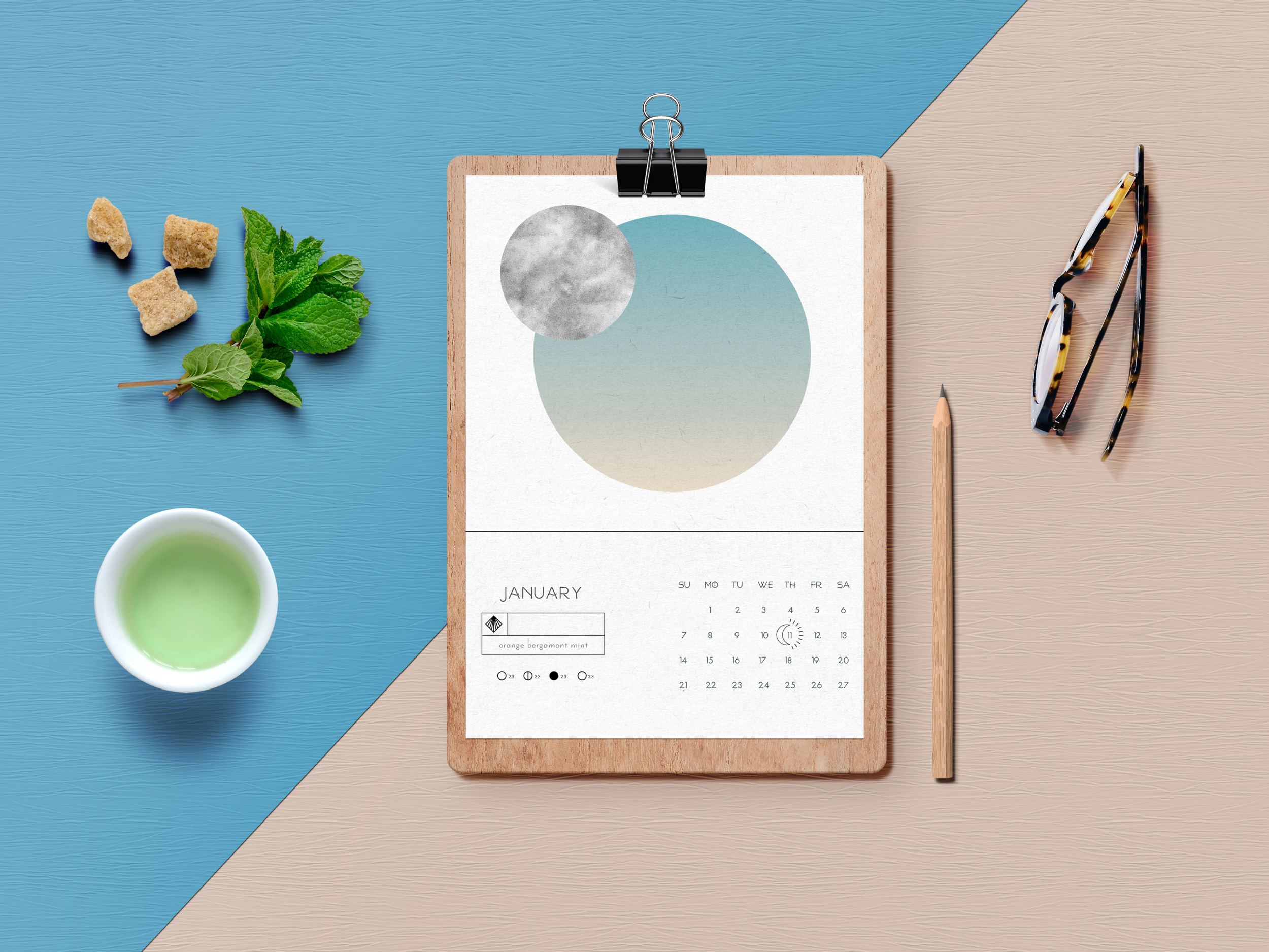 Calendar Concept For Seed Company