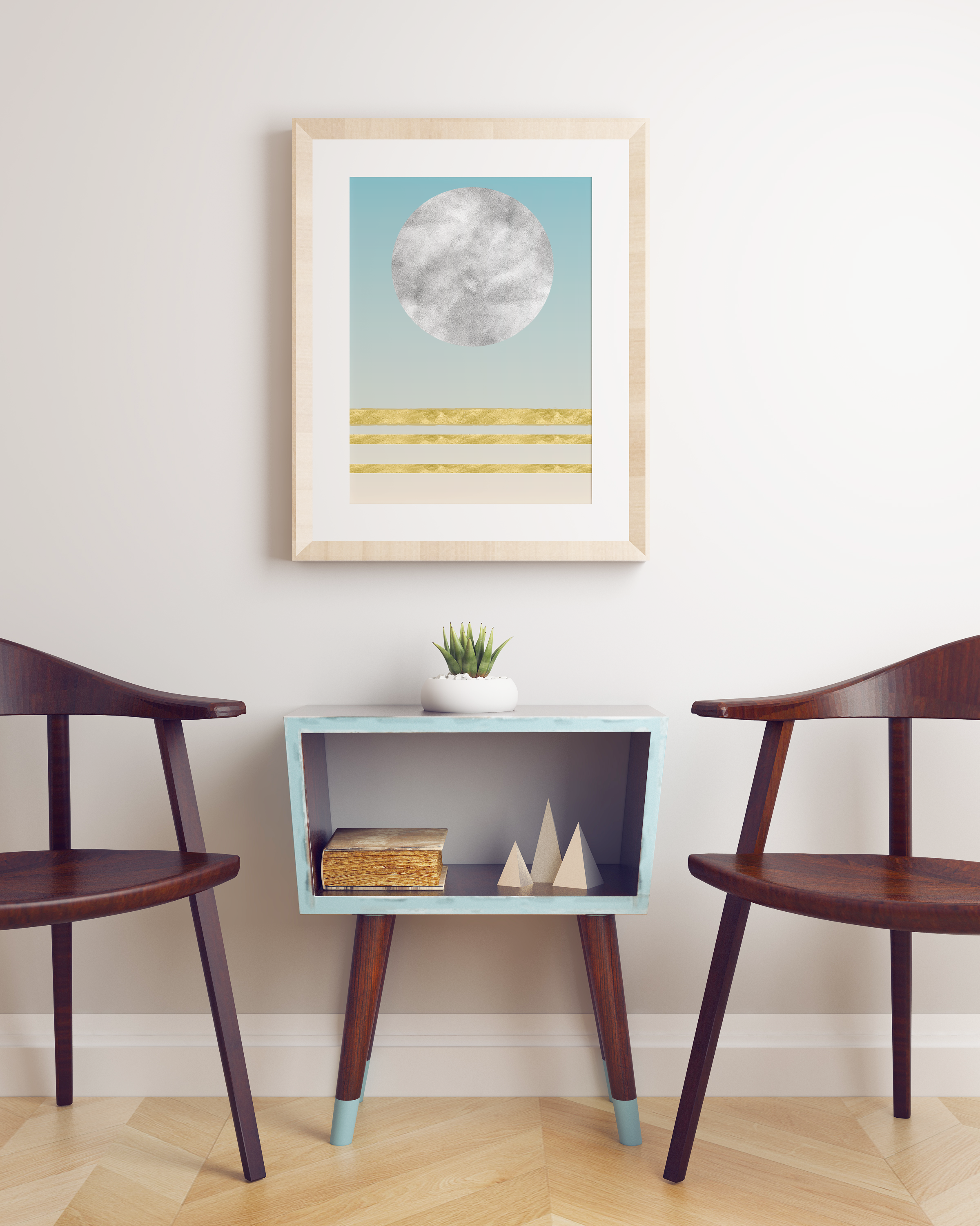 Art Print with Gold Foil