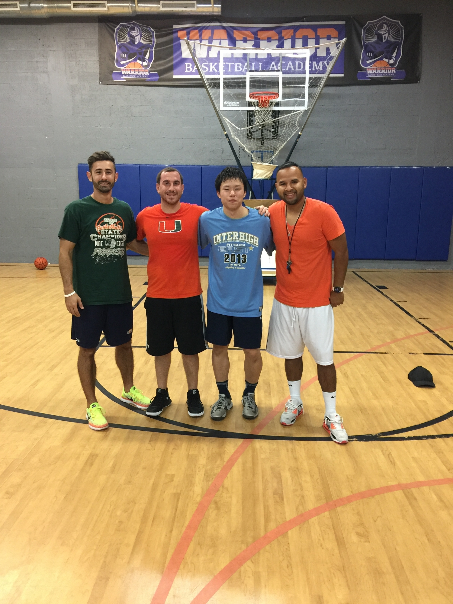 Kaz with Brandon and Luis the owner of Warrior's Basketball