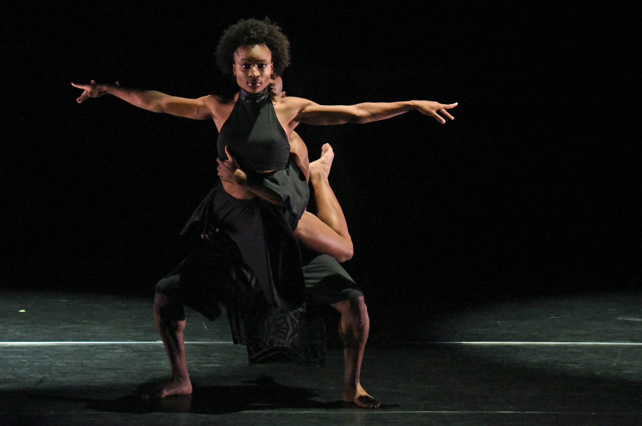 "Krystal Hicks performs ""Temporary Spaces"" during the Lula Washington Dance Theatre program at the Wallis Annenberg Center for the Performing Arts in Beverly Hills. (Kevin Parry / The Wallis)"