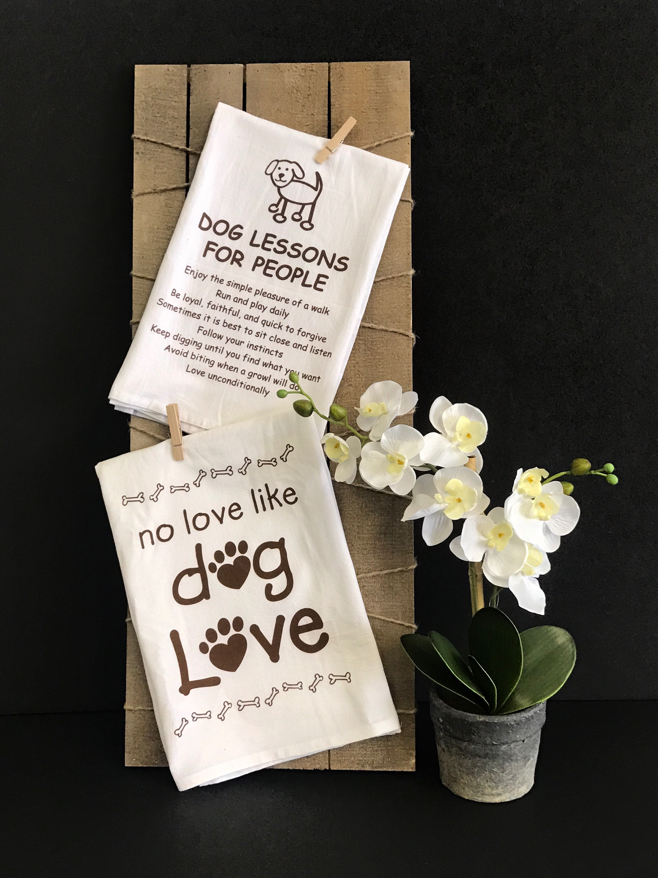These dog kitchen towels are a must have in your home! You can never have enough dog home decor!  -