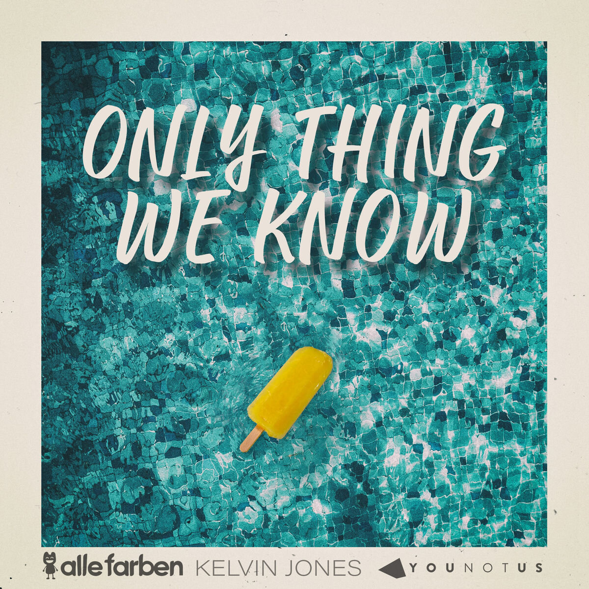 ONLY THING WE KNOW - Kelvin's second gold record and first number 1 radio hit. Co-written, recorded, and released along with Alle Farben and Younotus