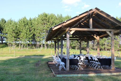 The Pavilion is nestled in the back Northwest forty of our farm...
