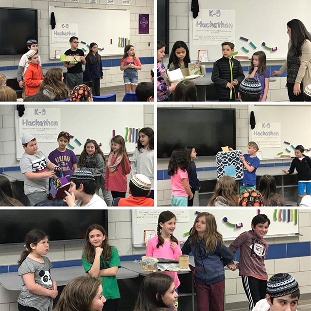 At the K-5th Grade Mini-Hackathon, 2nd and 3rd Grade presented their inventions for helping people on crutches carry things!  #KBAwesome #KBAkids #KBAfuture #FutureScientists #Hackathon #MiniHackathon #Science #scientists #scientist #STEM #JSTEM #accessibility #invent #create #inventions #creations #accessibilityissues #Jewish #JewishEducation #Education #JewishCommunity #Community #KBAfamily #KBACommunity