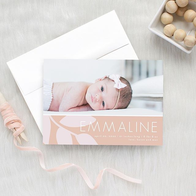 My screen has been covered with the cutest, chubbiest little faces lately (oh my!), as I've been working on birth announcements. I'm welcoming Spring with open arms this week and channeling blush tones through my design.. Anyone else ready for some warm weather? 🙋🏼♀️