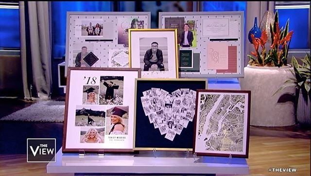 YOU GUYS! I experienced another pinch me moment! My graduation card (Dapper) was featured on the @theviewabc the other day. When I initially designed this I had my younger brother in mind. He was graduating medical school and I wanted to created something type based, bold and refined. Always grateful for the exposure and opportunities, @minted! 🥰