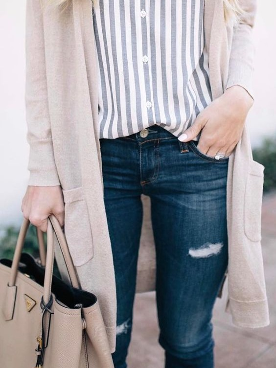 Transition outfits are easy with layers