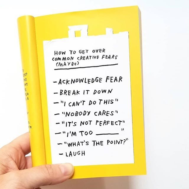A new day, a new week, so many possibilities for you to manifest that thing you've been thinking about. It can be scary but we think you are more than qualified to step up bravely and complete those goals. * * * Photo by: @heartsandsharts Book by @adamjk * * * #youarequalified #creativeenergy #fearchecklist #bravery