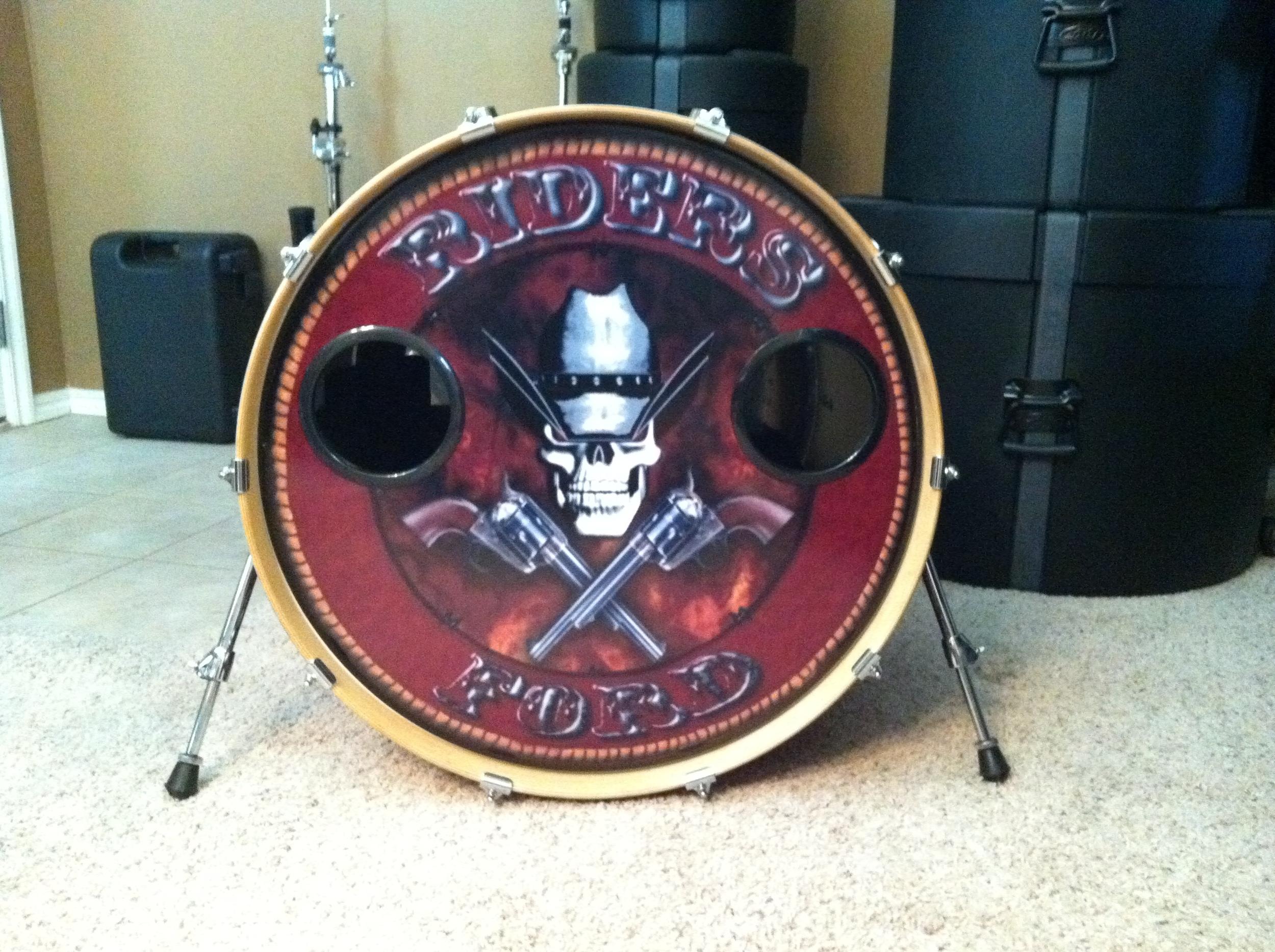 "24"" Custom Drumhead | Riders Ford"