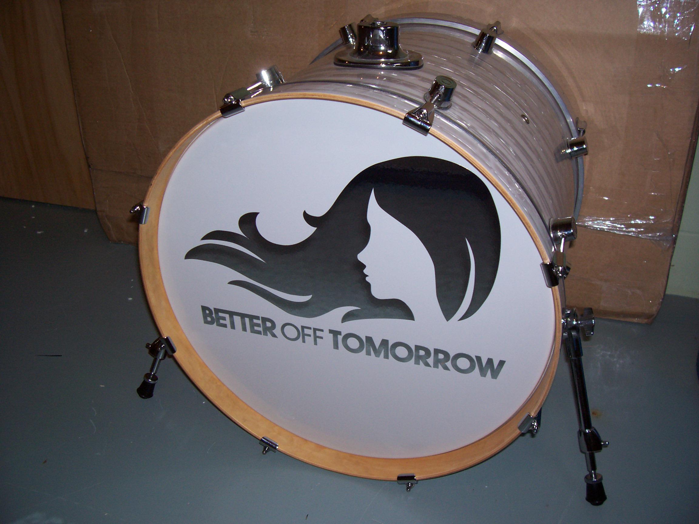 "22"" Custom Drumhead | Better Off Tomorrow"