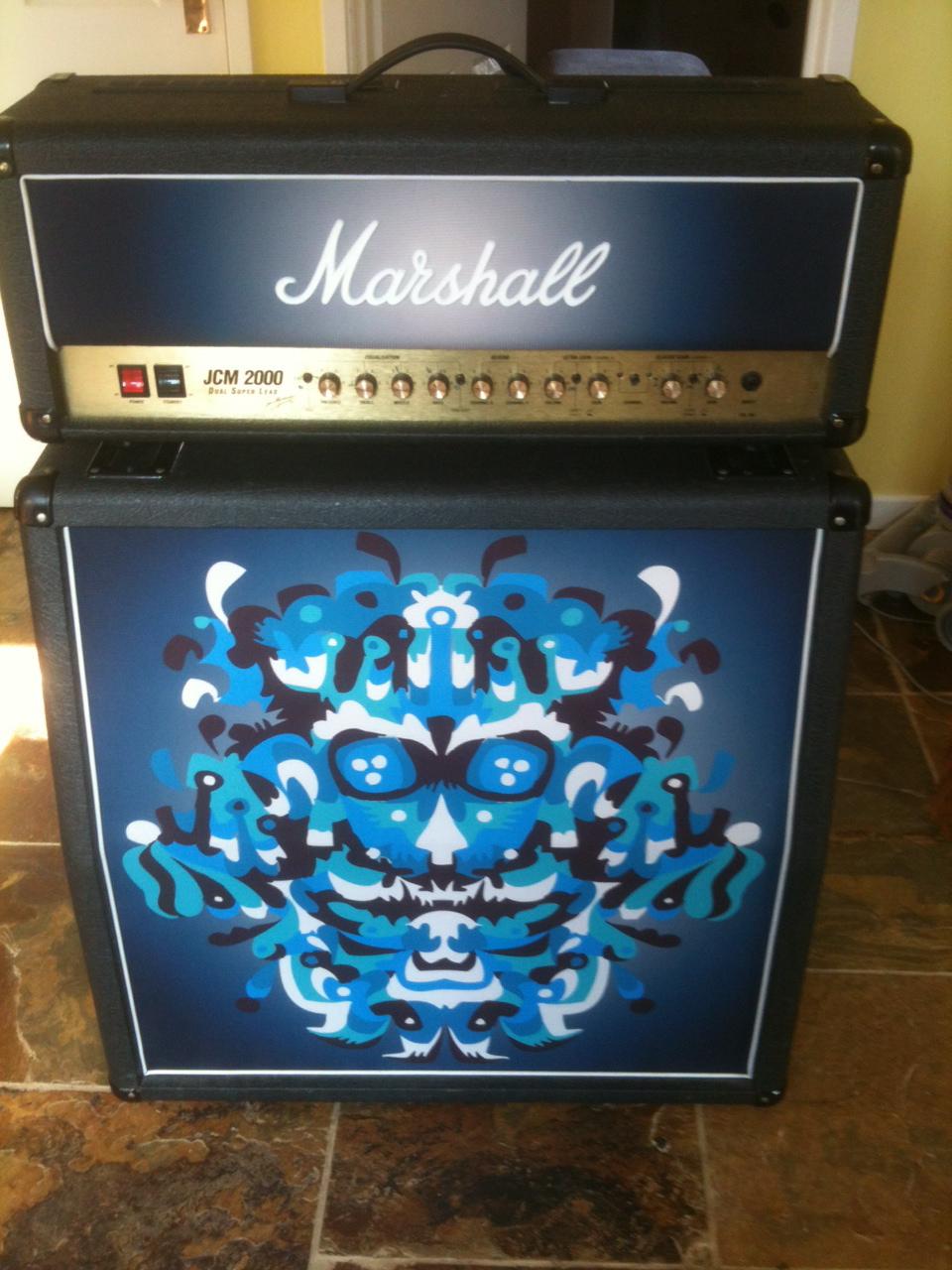Marshall 412 Custom Grill Cloth | Blue Nation