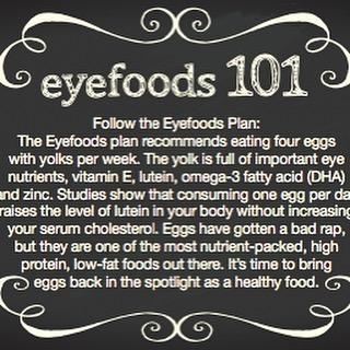 Eggs are an important Eyefood! #CWE #Healthyeyes #eyefoods