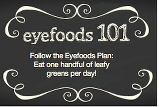 Be sure to get your greens in! #CWE #Healthyeyes #eyefoods