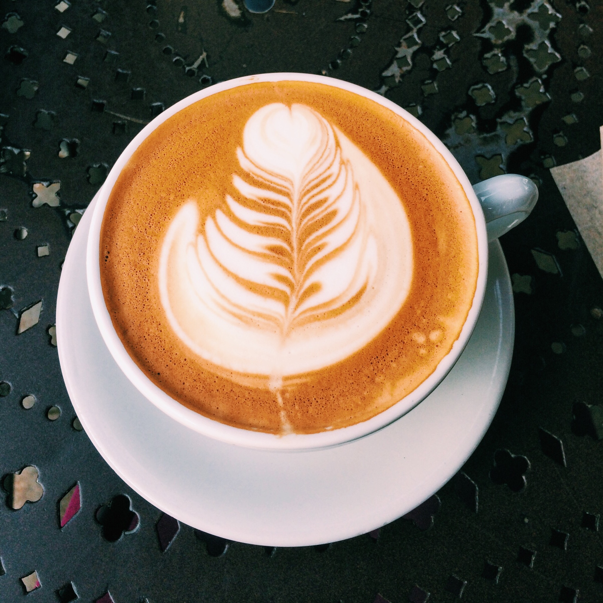 Almond Milk Cappuccino at Urth Caffe, Beverly Hills