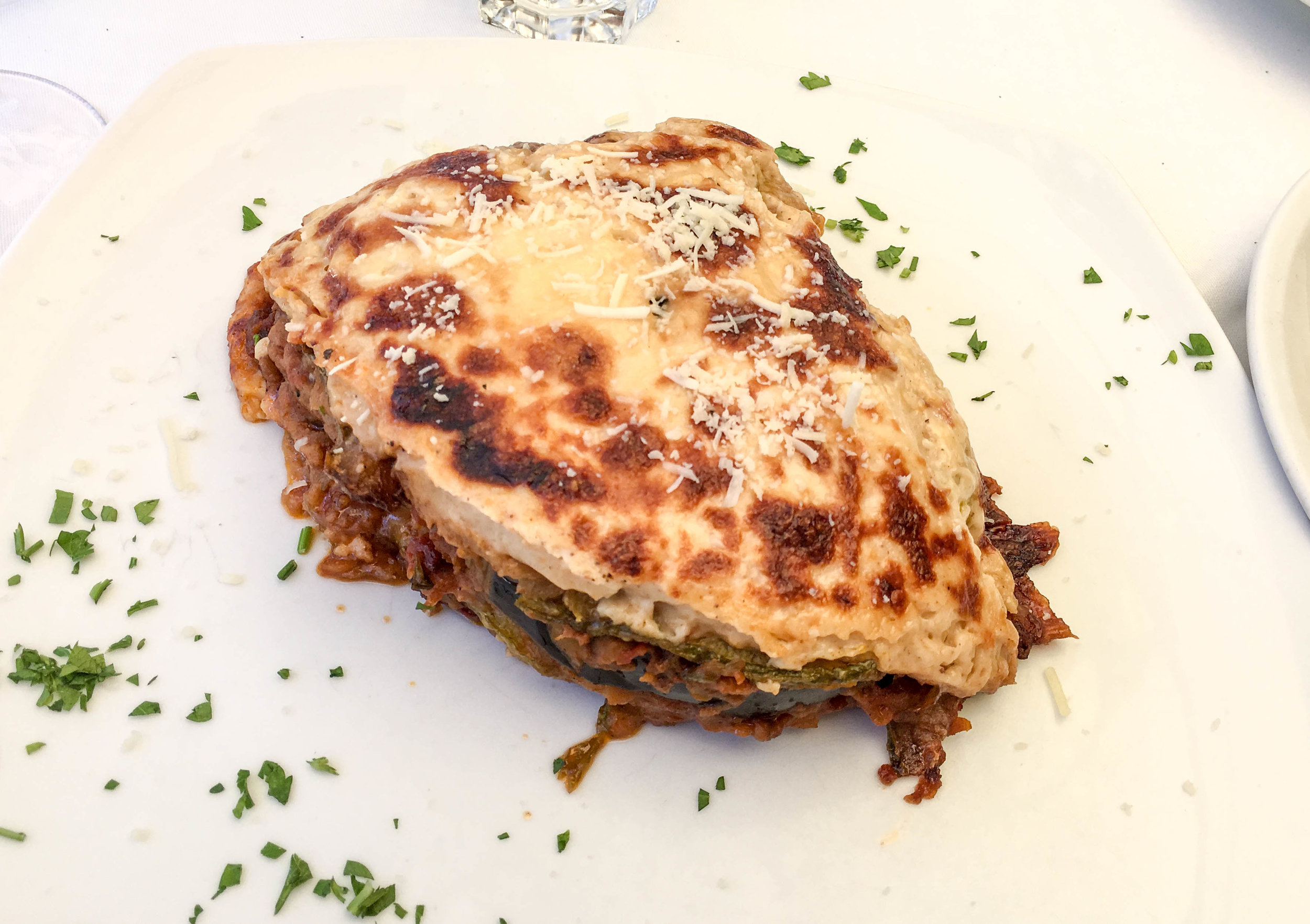 Vegetarian Moussaka at Liondi Traditional Greek Restaurant, Athens, Greece