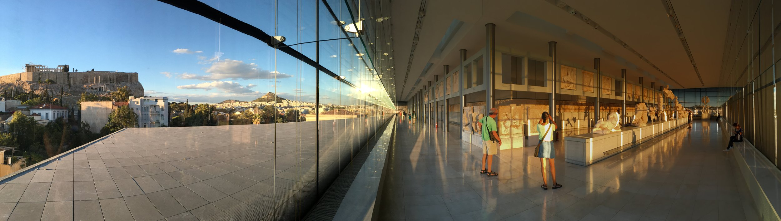 The Acropolis Museum, Athens, Greece  (note the Parthenon, visible in the upper left!)