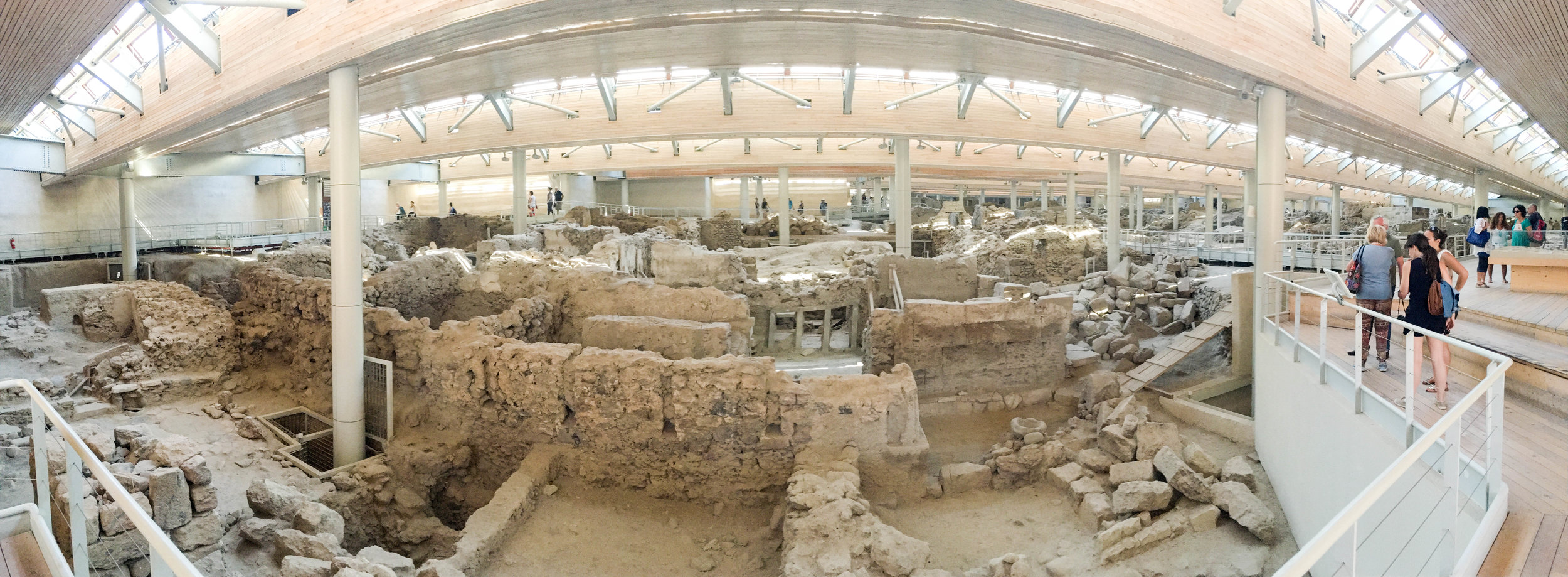 Archeological site of the ancient city of Akrotiri, Santorini, Greece