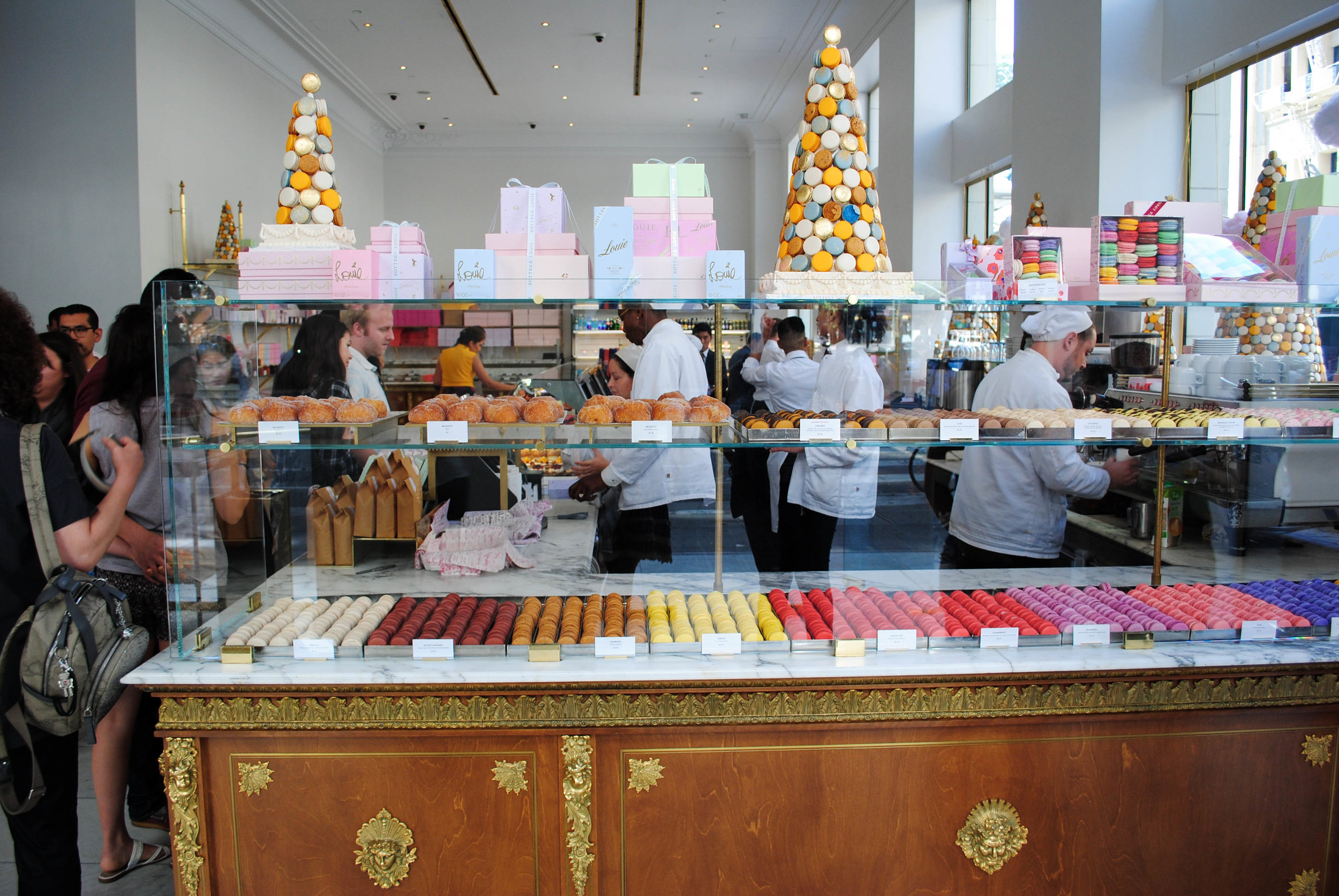 Macaron case, Bottega Louie, Downtown Los Angeles, CA
