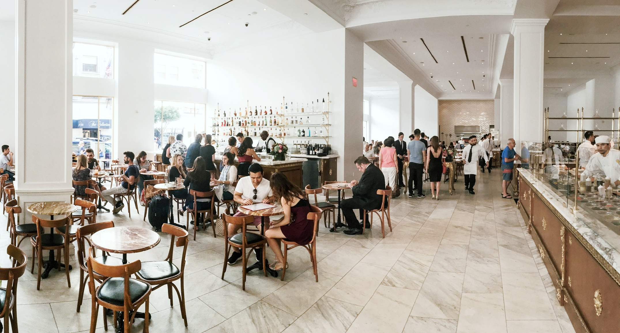 The bar, Bottega Louie, Downtown Los Angeles