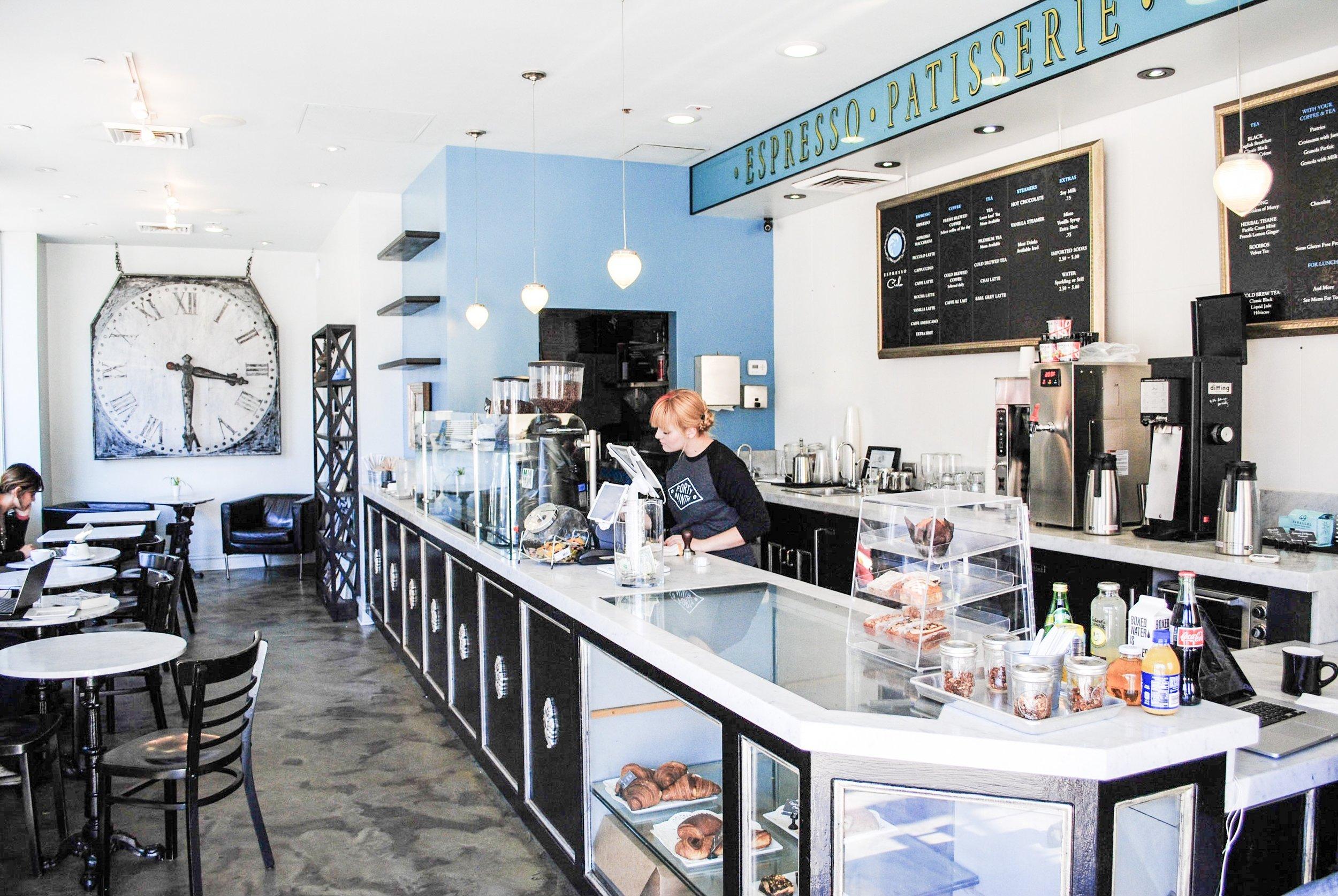 Inside Espresso Cielo, Santa Monica, CA