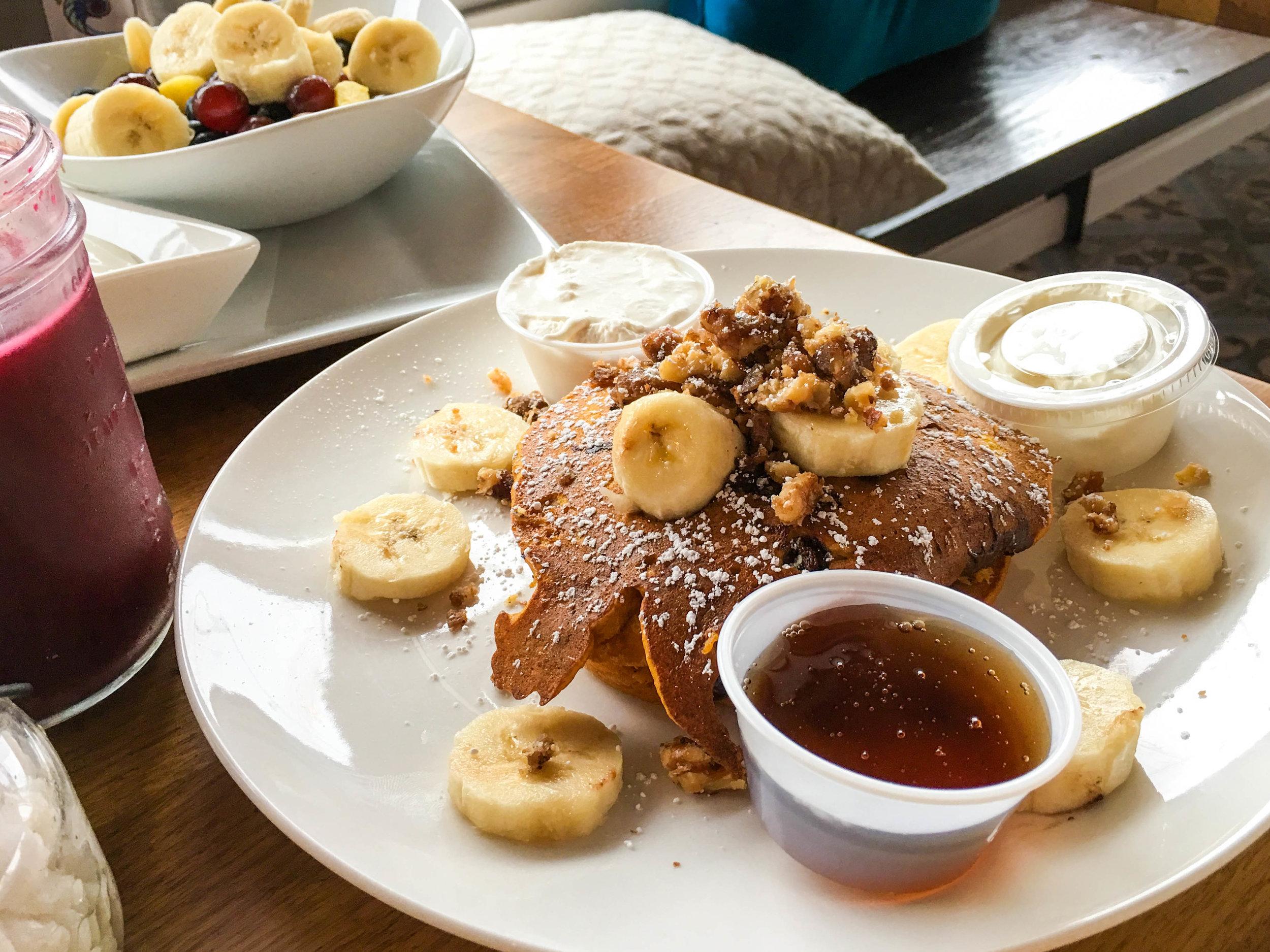 Pumpkin Pancakes Special, Café Solar, Westchester, CA