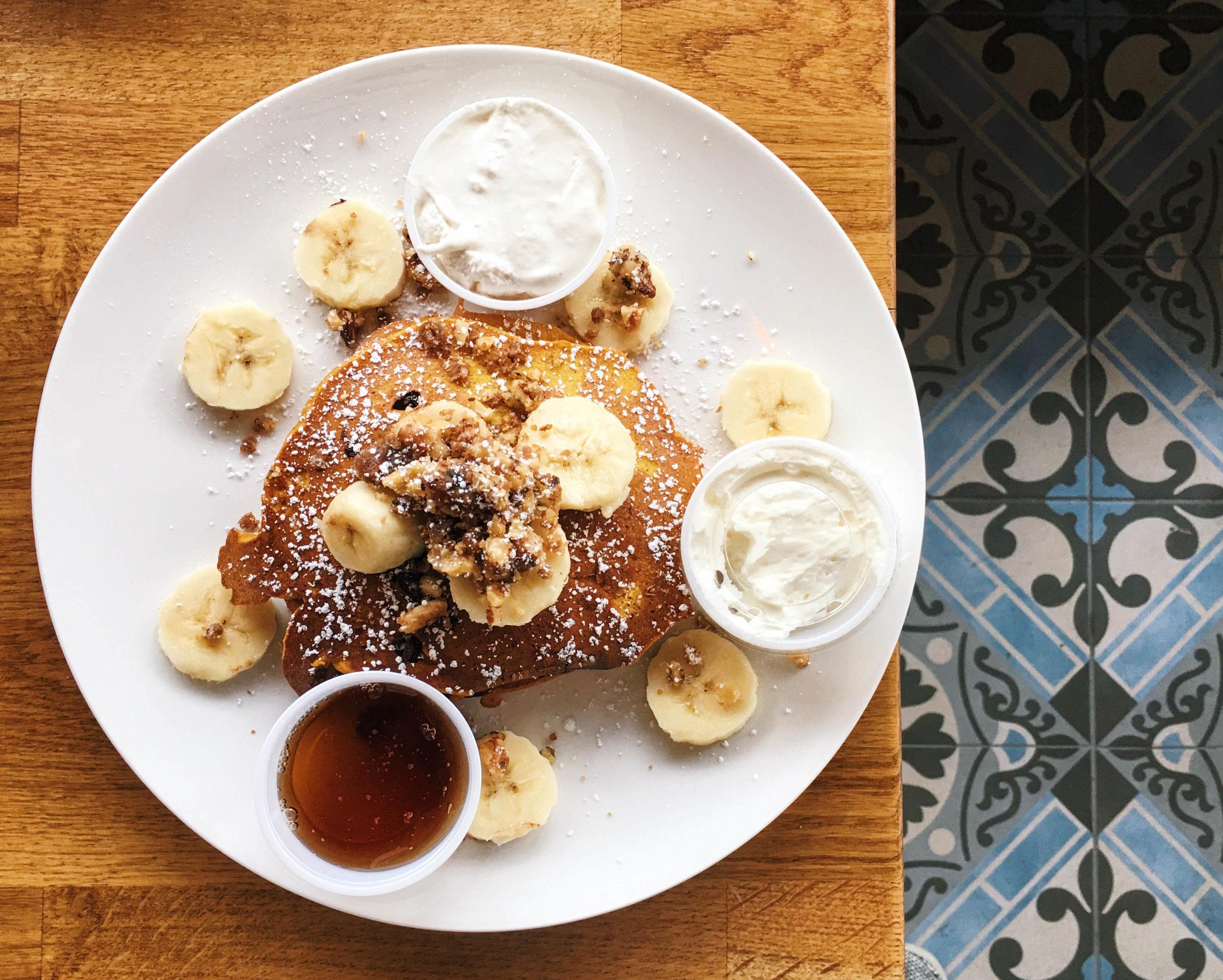 Pumpkin Pancakes Special at Café Solar, Westchester, CA
