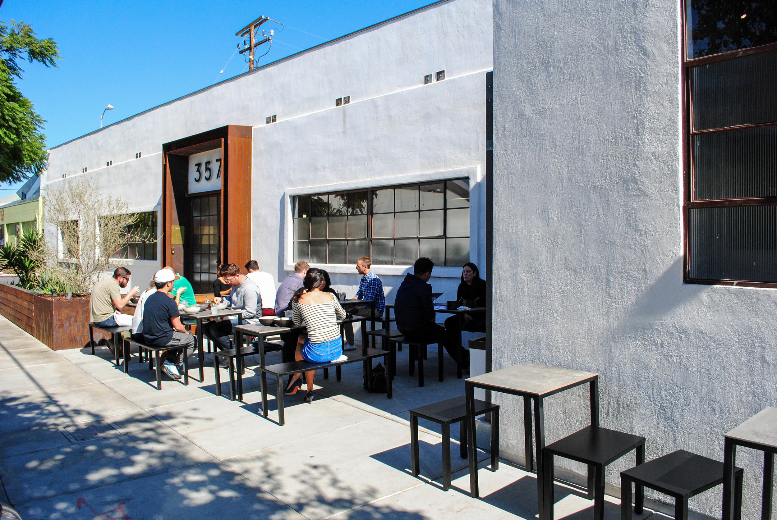 Outdoor seating at Destroyer, Culver City, CA