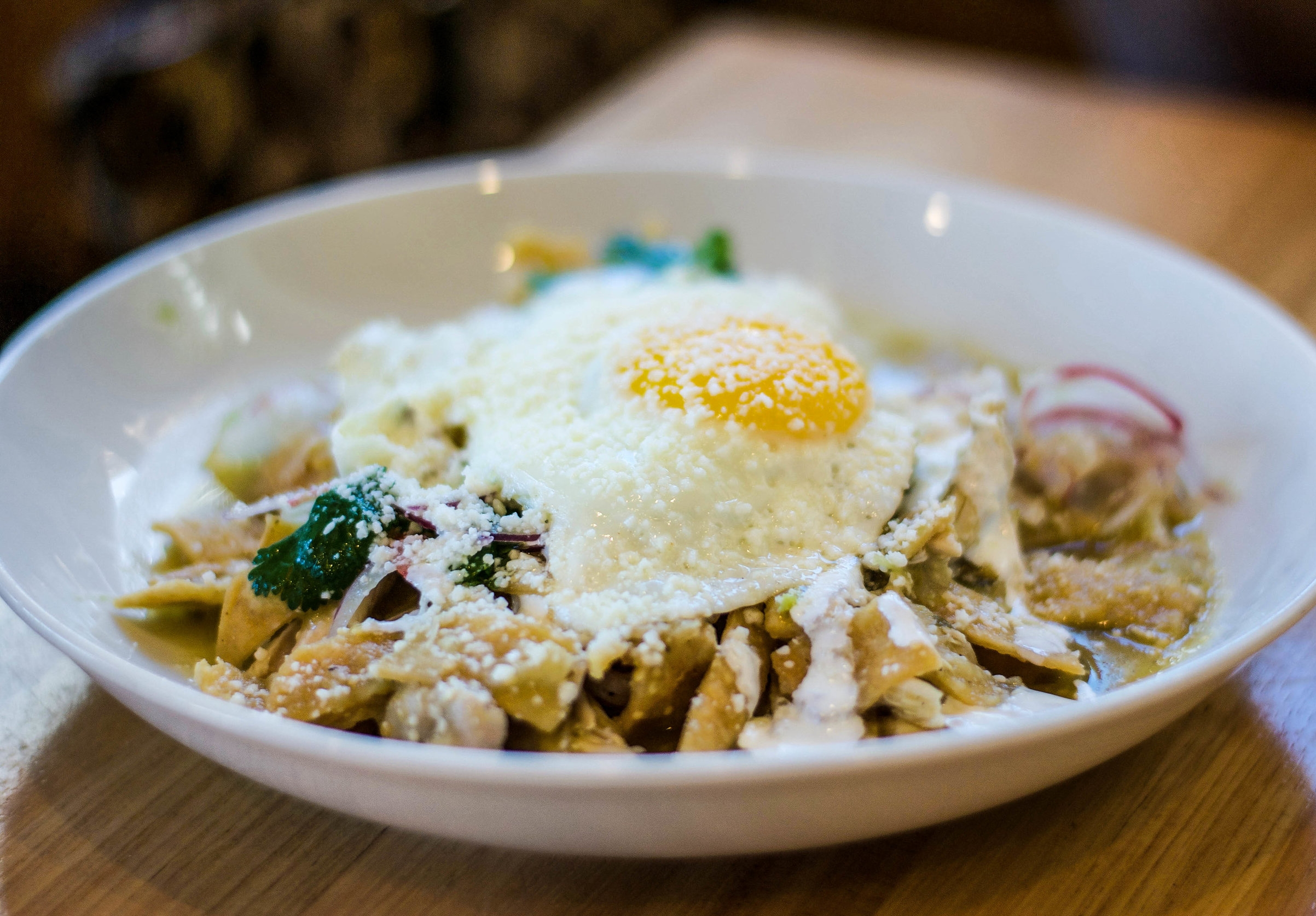 Chilaquiles at Claudine Artisan Kitchen & Bakeshop, Encino, CA