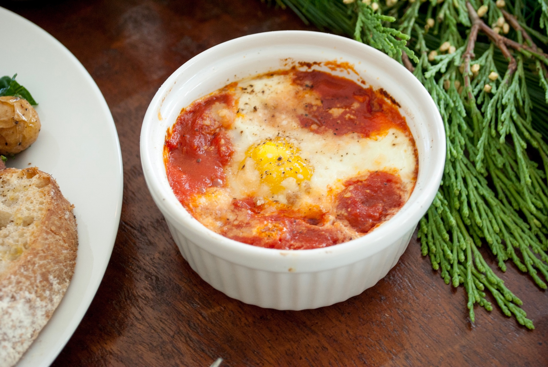 Gettin' saucy with some Eggs in Purgatory