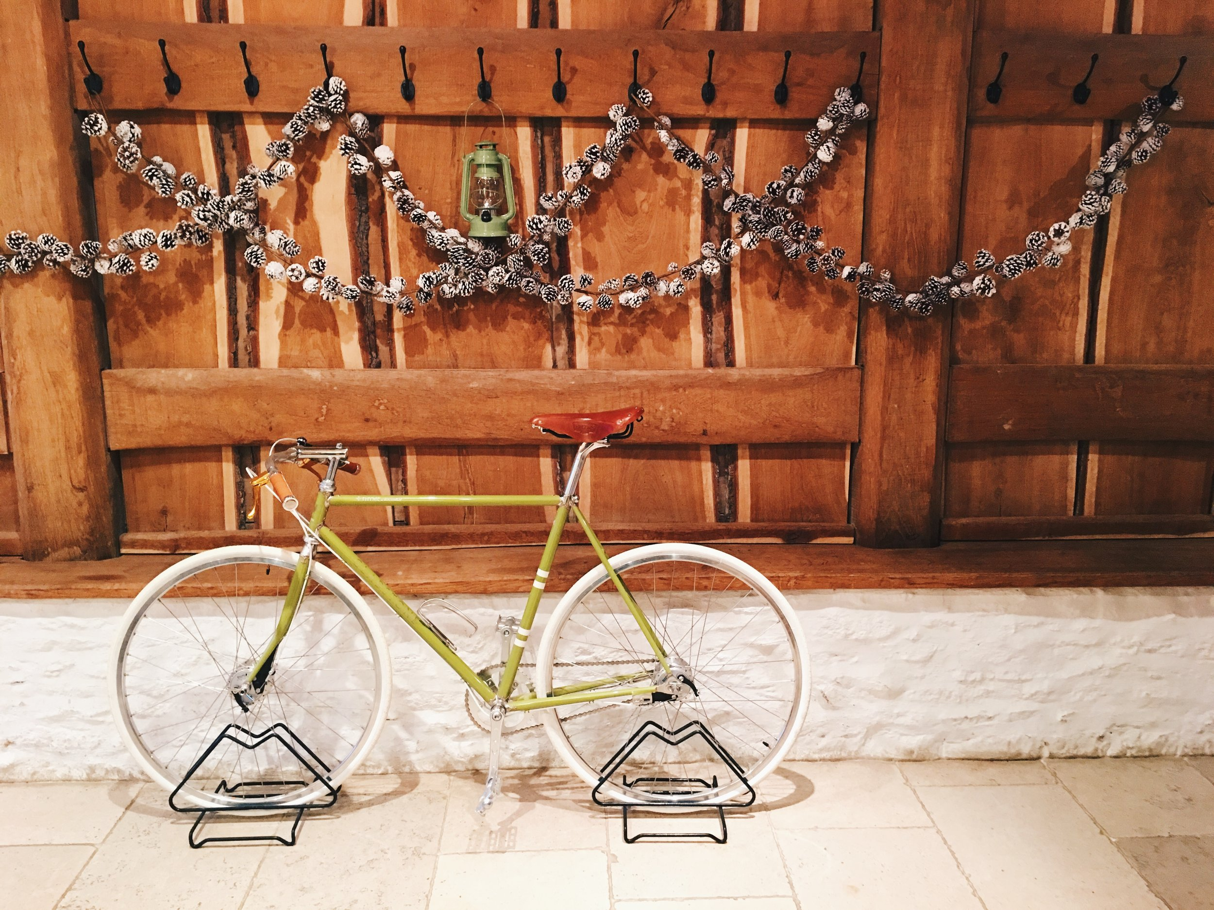 Adorable bicycle in the entryway, Thyme, Southrop