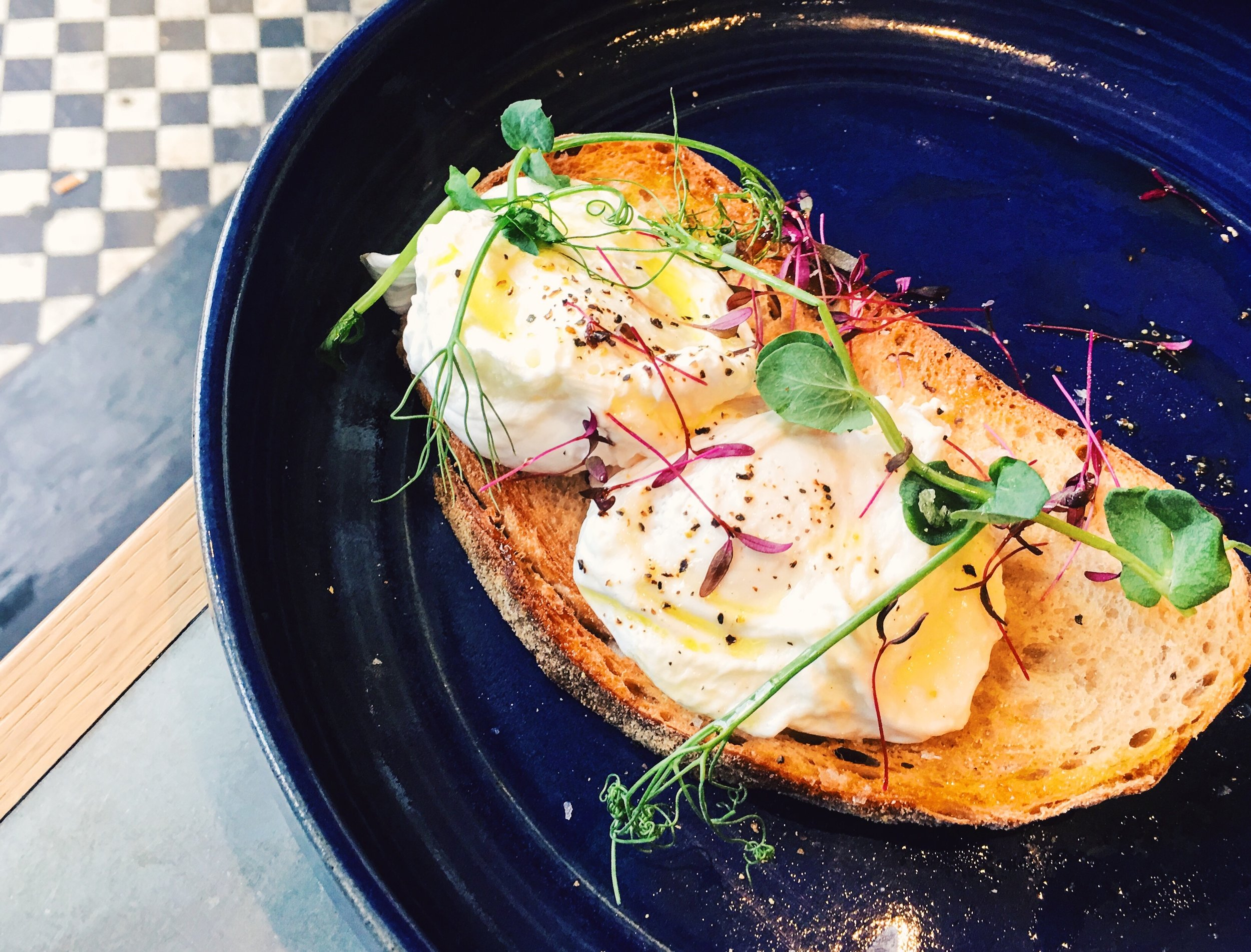 The simple but perfect Eggs on Toast, Brown & Rosie, London