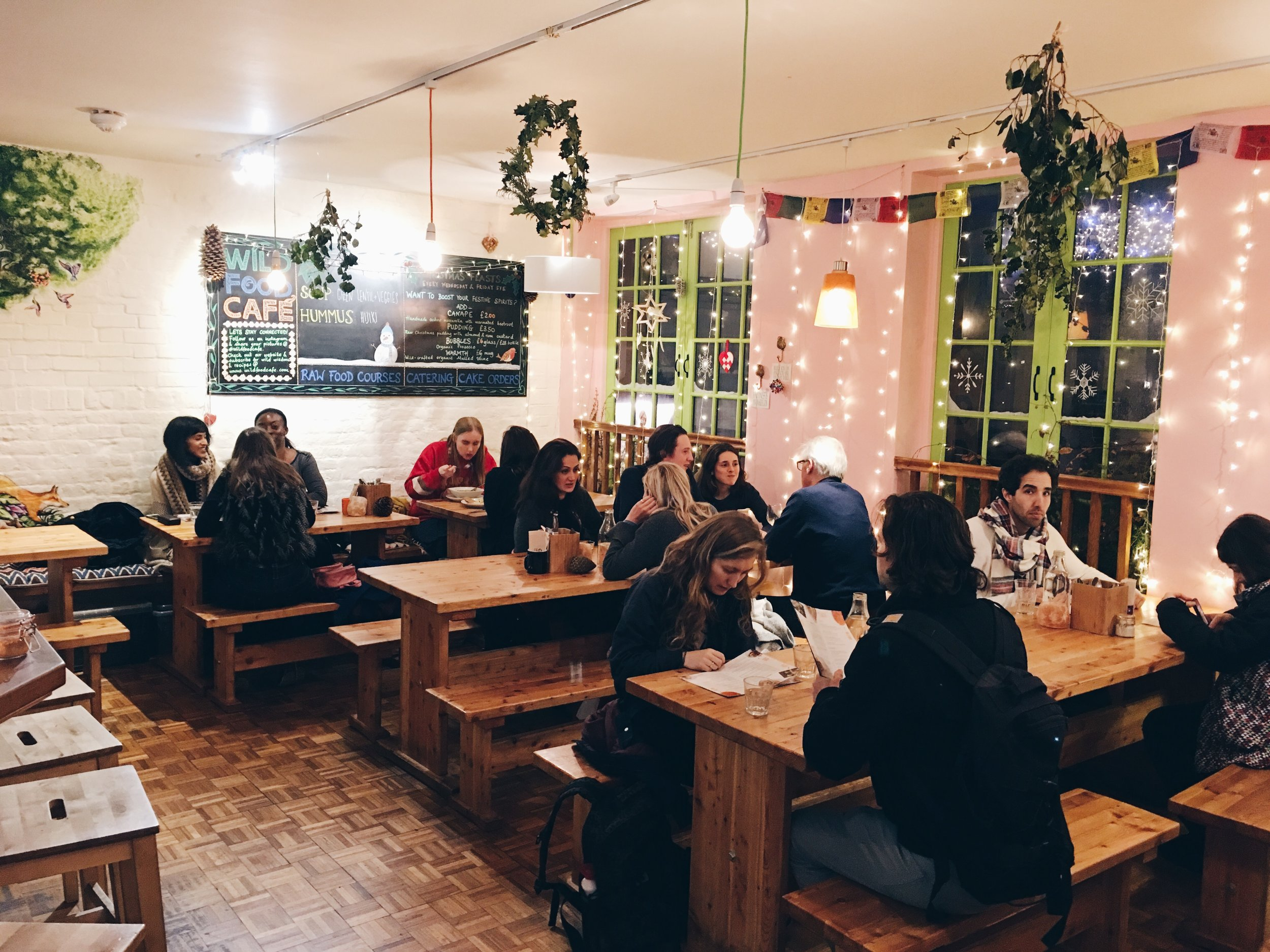 Inside Wild Food Café, London