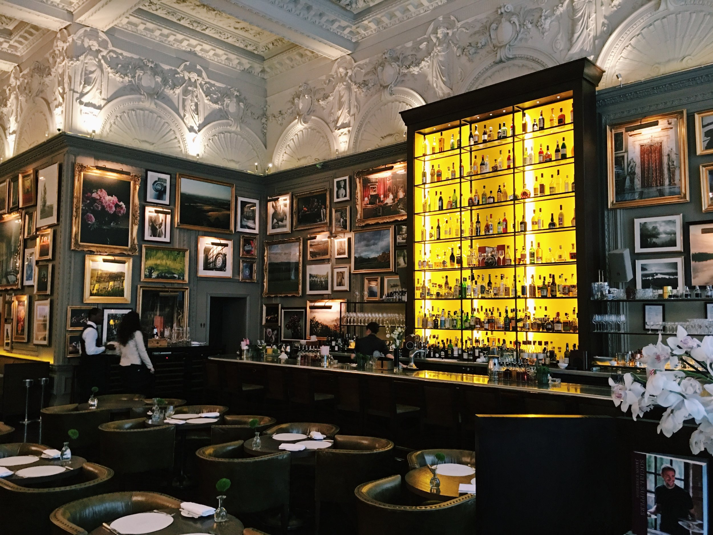 The bar at Berners Tavern, London
