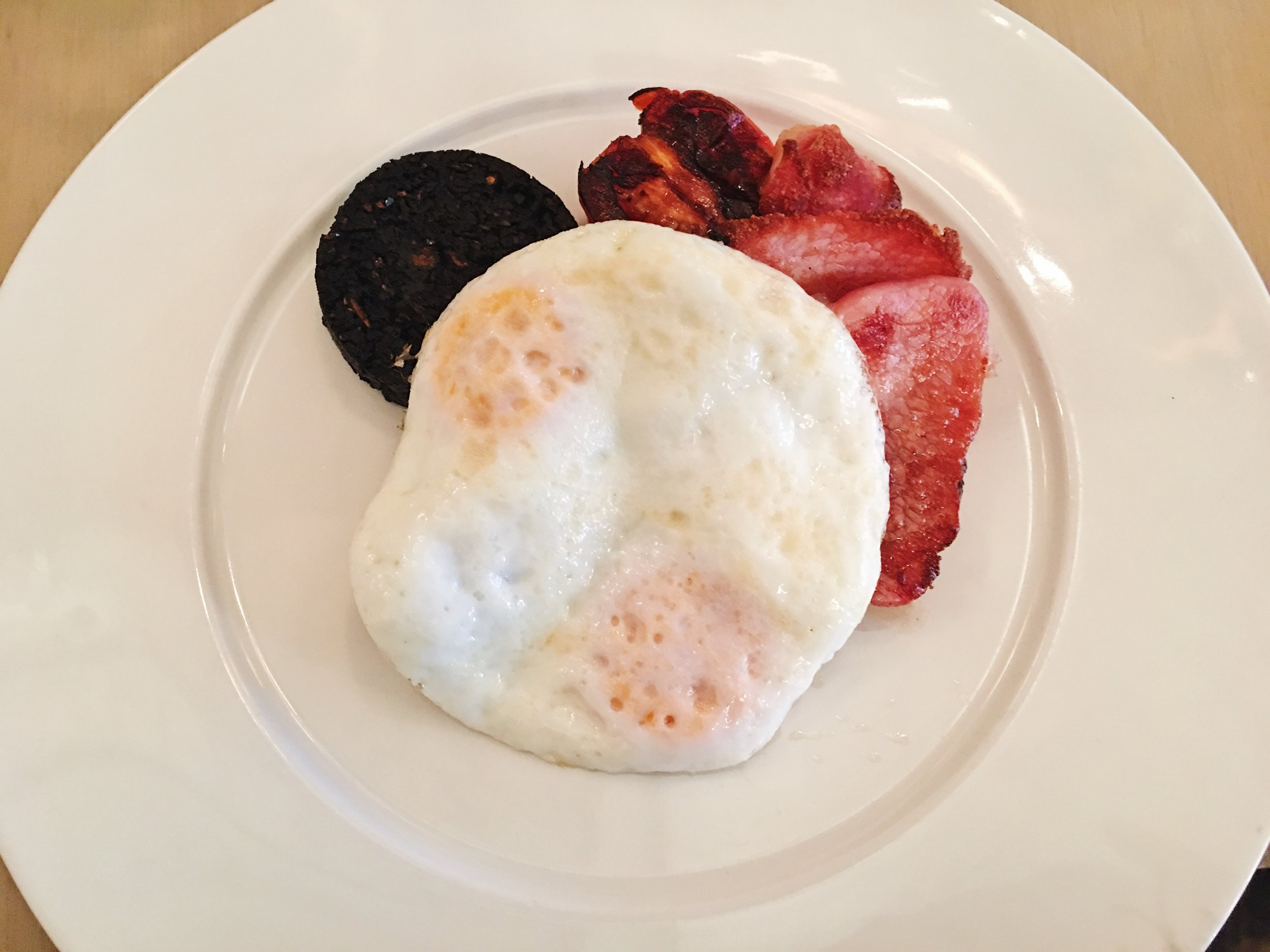 English Breakfast, including black pudding, at Berners Tavern, London