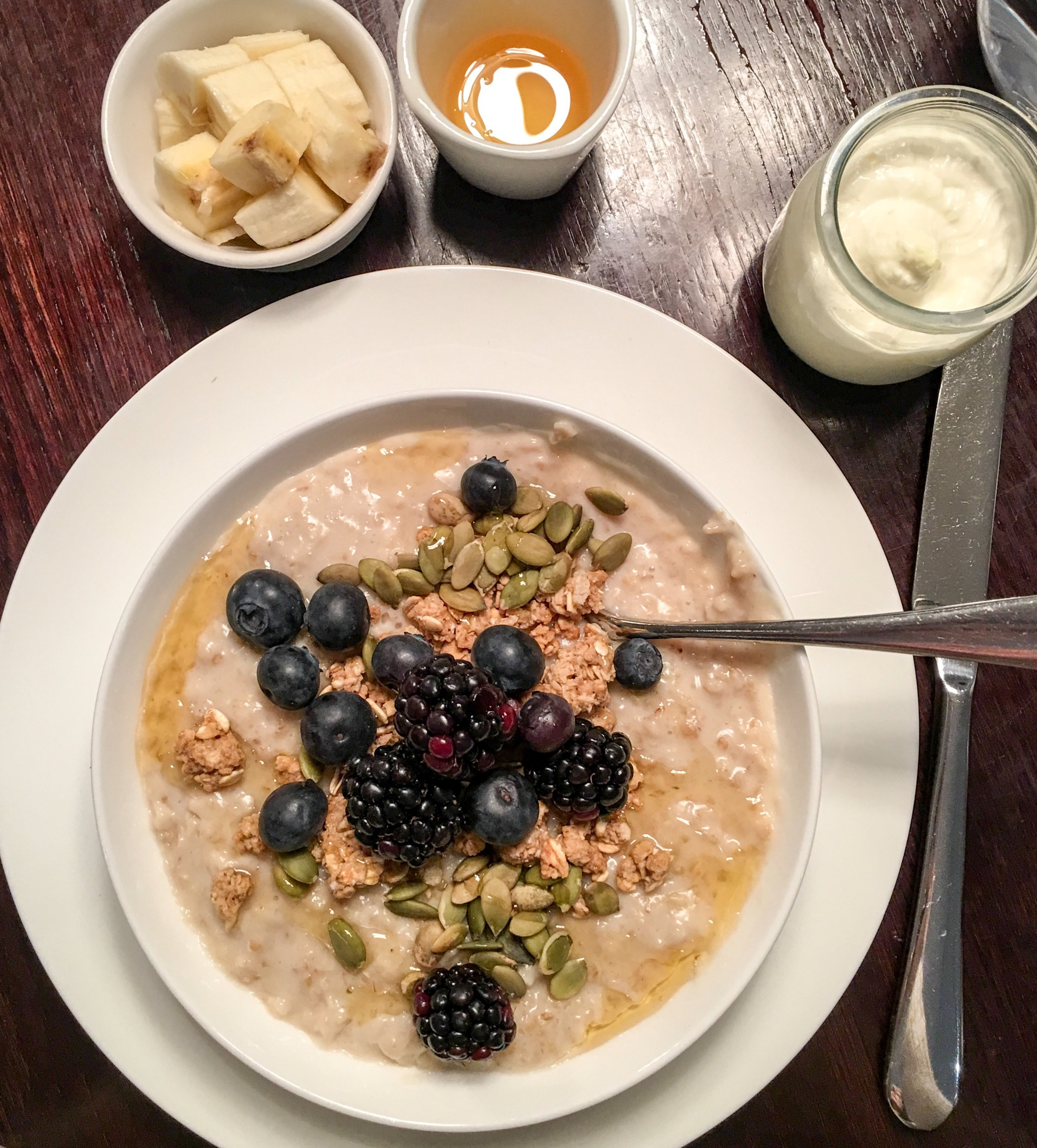The most satisfying bowl of porridge with berries and granola, Hunter 486 at The Arch, London