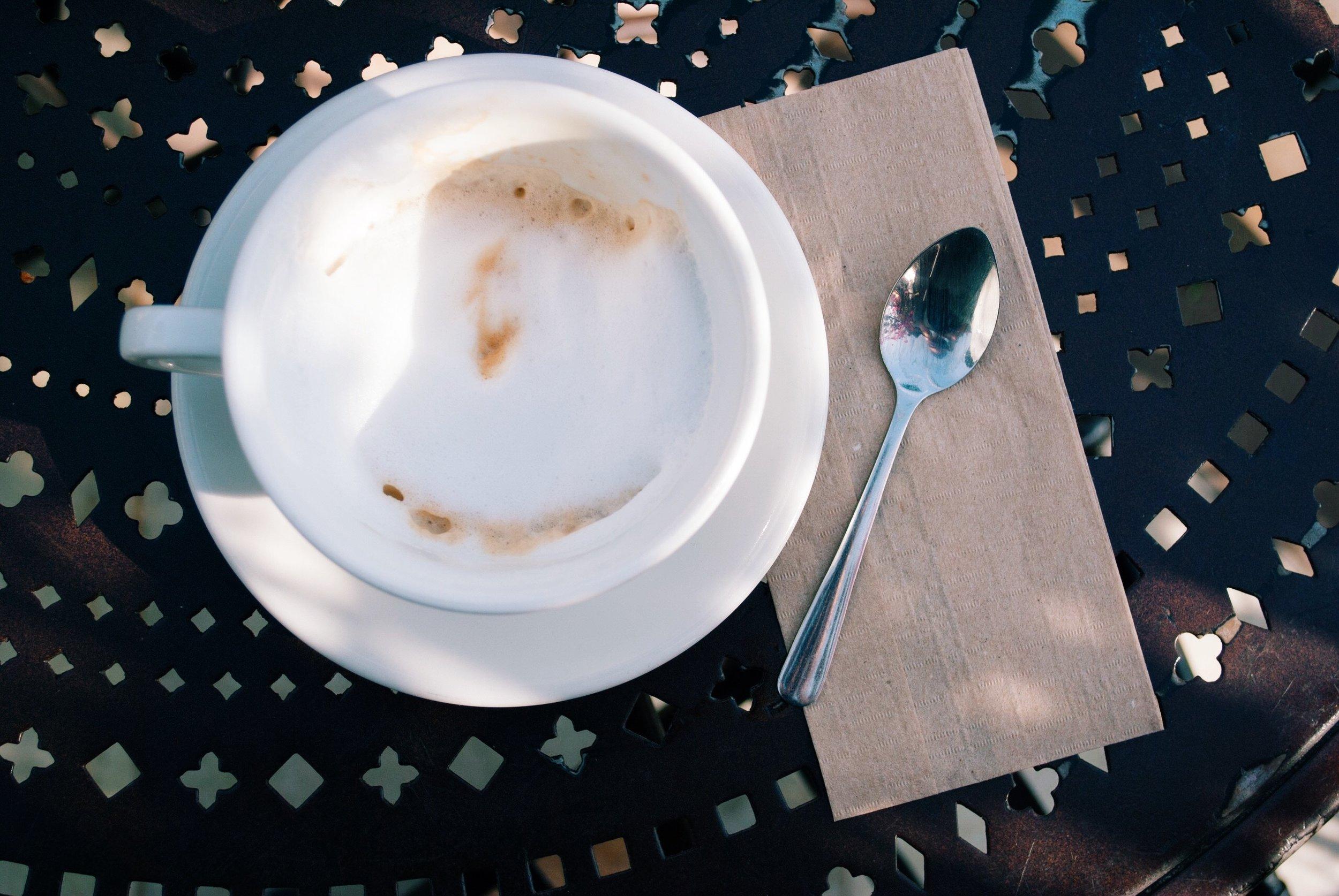 Cappuccino at Urth Caffé, Santa Monica, CA