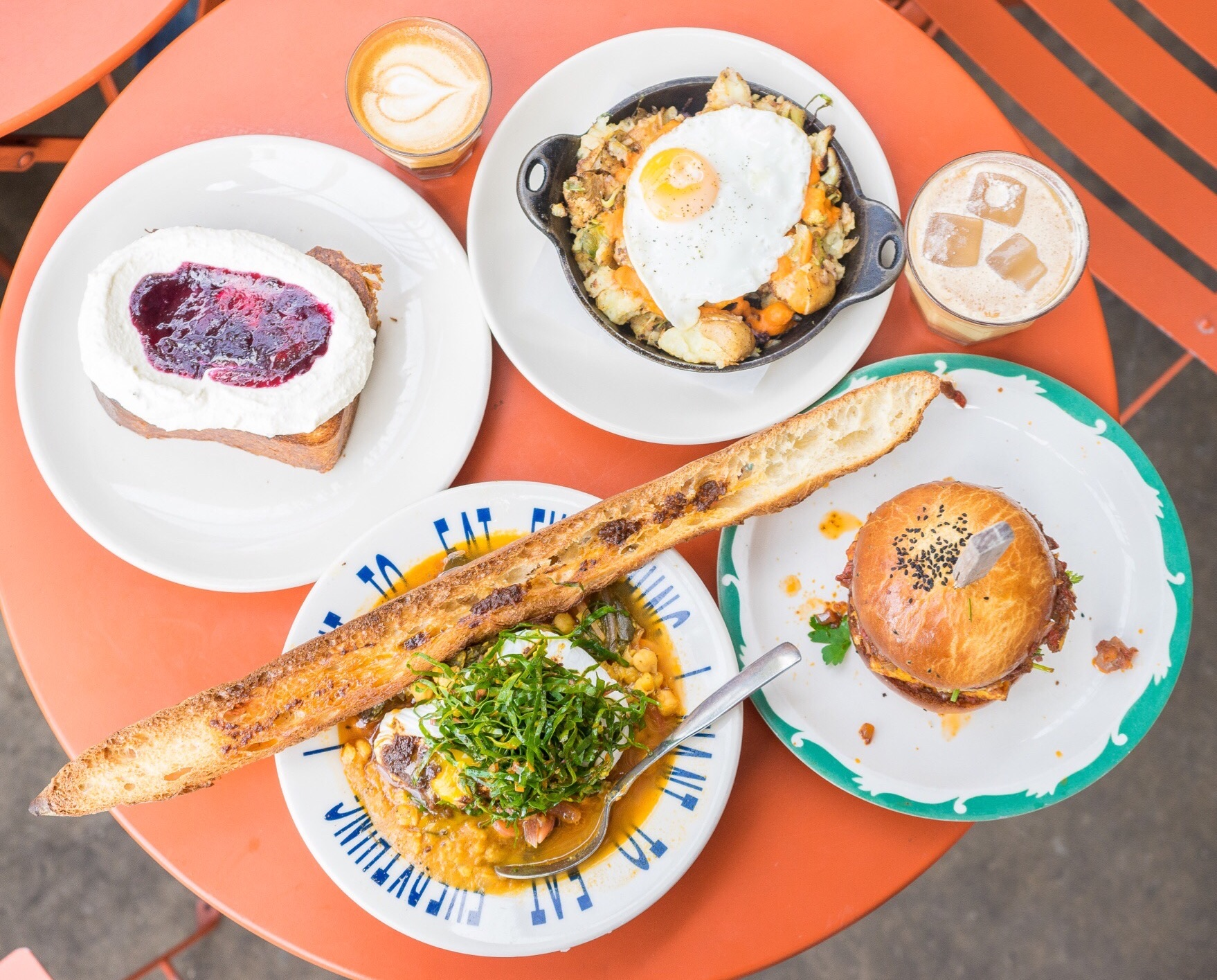 Brunch Spread at Sqirl, Silver Lake, CA